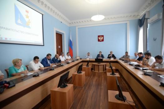 Заседание Правительства Севастополя