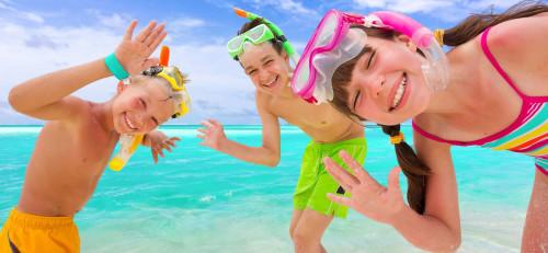 Дети море